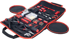 Household Hand Tools, 86 Piece Tool Set With Roll-Up Bag - Great for Home or Car