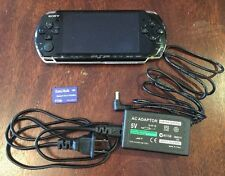 (QL) Sony PSP 3000 3001 System w/ Charger & Memory Card Bundle TESTED WORKS