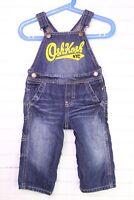 OshKosh NYC Overalls Bib Blue Jean Denim Vestbak Carpenter Boys Size 12 Months