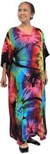NWT FITS SIZE 10-26 LADIES LONG KAFTAN - COVER UP SUNSHINE PRINT - NEW RELEASE