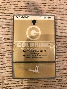 VINTAGE GOLDRING D.394 SR DIAMOND TIP STYLUS NEEDLE FOR TELEFUNKEN A23/ 1