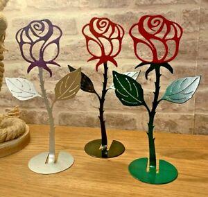 Valentine Rose CNC Cut Metal Rose Valentines Gift Present Flowers Roses