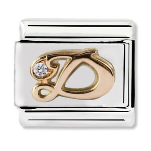 GENUINE Nomination Classic Letter D Rose Gold Steel Charm 430310/04 / £29 RRP