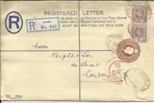 Gold Coast Registered Postal Envelope HG:C11e(type 4-imprint)reduced slightly