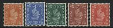 1951 ½d- 2½d COLOUR CHANGE INVERTED WMK SET. SG 503Wi-7Wi