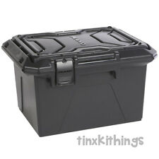 Black 85lb Hunting Game Crate Outdoor Gear Box Storage Stackable Survival Sport