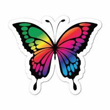 Butterfly Rainbow Cute Pretty Colourful Car Sticker Decal