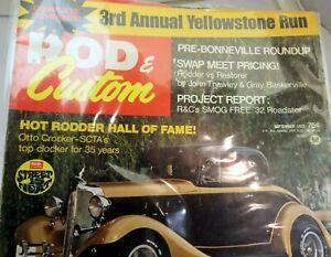 Rod & Custom September 1972 Magazine Hot Rodder Hall of Fame Yellowstone Run