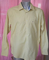 TOMMY HILFIGER jolie chemise jaune - Taille  L - EXCELLENT ÉTAT