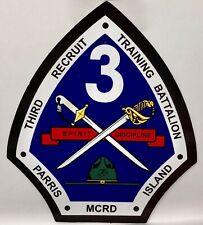 Marine 3rd Recruit Training Battalion MCRD Parris Island Decal