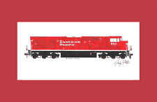 """Canadian Pacific ES44AC 11""""x17"""" Matted Print Andy Fletcher signed"""