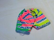 Ken Doll Shorts For Older Ken Green Lime Gree Pink Blue & White Print