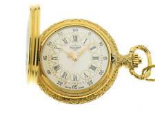 Tavernier orologio tasca placcato oro con smalto dama ref. 4232 pocket watch