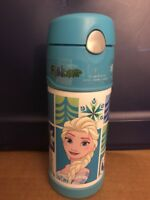 Thermos Funtainer 12 Ounce Bottle, Frozen Aqua, NEW Disney School Travel