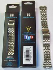 WHOLESALE LOT OF 96 SILVER METAL BRACELET SMART WATCH BANDS, $1.00 each