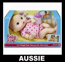 Hasbro Baby Alive Doll Luv N Snuggle Blonde Hair Pink A5841