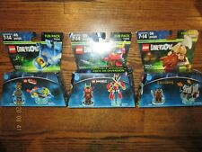 LEGO DIMENSIONS X3 LORD OF THE RINGS FUN PACK 71220, NINJAGO 71216, MOVIE 71214