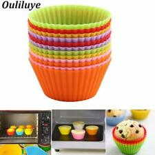 Nuevo 12/6/1PCS Silicona Muffin Pastel tazas para cocina Repostería Herramienta Horneado Taza