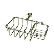 Kingston Brass CC2141 7 Inch Riser Mount Soap Basket - Polished Chrome