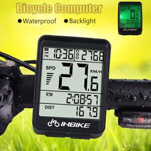 INBIKE IN321 Bicycle Computer Waterproof Wireless LCD Odometer Bike Speedomet GR
