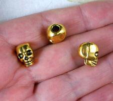 20 Skull Totenkopf Beads Metall Anhänger Kette Armband PARACORD Perle Lanyard