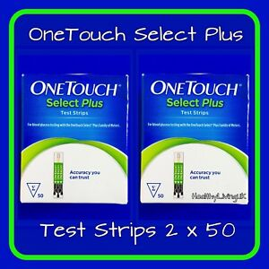 OneTouch Select Plus Test Strips -For Select Plus Meters - 2 x 50 - RRP £70