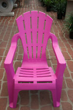 Outdoor Garden Patio Furniture Plastic Adirondack Deck Chair Italia Seat Pink
