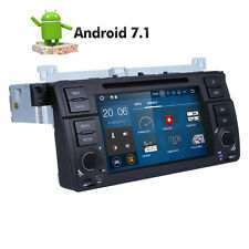 1 din Android 7.1 OS Quad Core Car DVD GPS Stereo 4G DAB+ For BMW E46 M3 318 320