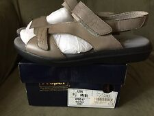 Propet Womens W0017 Starfish Grey Leather Sandals 8.5M ExcellentCondition In Box