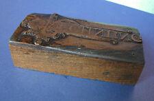 Antique Patina G. BERTHOLD Old CLICHE Printing RECHNUNG Johann Gutenberg RARE