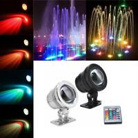 20W 12V RGB LED IP68 Underwater Spot Light Garden Pool Pond Aquarium Lamp Remote