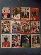 PEDRO GUERRERO baseball card lot (12) Los Angeles Dodgers, St Louis Cardinals