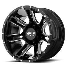 24 Inch Black Wheels Rims LIFTED Dodge RAM 2500 3500 Truck 8x6.5 Lug Moto Metal