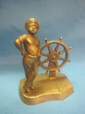 Sailor. Boatswain. Vintage Collectible Bronze Statuette Figurine. USSR