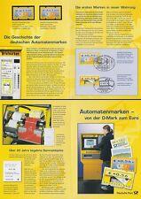 EB 3/2002 Dt.Post, 4 ATM, DM-Werte **, EURO-Werte gest. (MiNr.3.2,3.3,4,5.1)