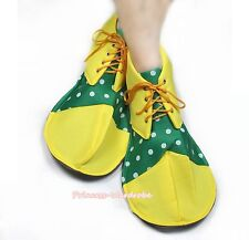 Halloween Party Yellow Kelly Green White Dots Jumbo Clown Shoes Costumes Unisex