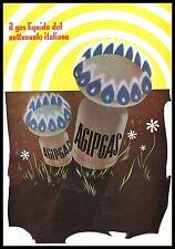 PUBBLICITA' 1953 AGIP GAS ENI  BOMBOLA GIACIMENTO ITALIANO NATURA ENRICO MATTEI