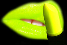 NEON LIPSTICK in YELLOW UV, FLUORESC,BLACK LIGHT, CLUB, STAGE, DISCO B.O.G.O