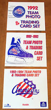 1991-92 Rochester Amerks Americans Set 26 complete card set & team photo SHEET
