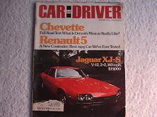 Car and Driver January 1976 Jaguar XJ-S, Chevette, Renault 5, Ferrari Boxer
