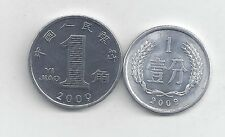 2 COINS from the PEOPLE's REPUBLIC of CHINA - 1 FEN & 1 JIAO (BOTH 2009)