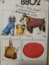 SIMPLICITY  #8802 DOG ACCESSORIES COAT, SHIRT, BED, BAG UNCUT PATTERN
