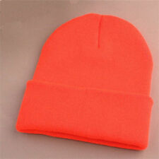 Unisex Mens Women Beanie Knit Ski Cap Hip-Hop Blank Winter Warm Wool Hat Fashion