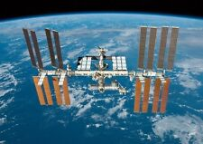The International Space Station and Earth Poster