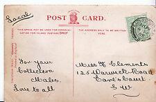Genealogy Postcard - Family History - Clements - Earl's Court - London S.W U4160