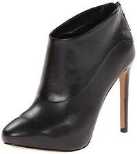 NEW in BOX Nine West NAVA JOE BLACK Leather Ankle Boots Back Zip Sz 12 M $119