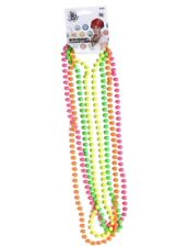 Ladies 80s 1980s Neck Beads Pack of 4 Neon Necklace Fancy Dress by Smiffys New