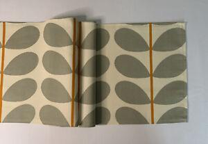 "Orla Kiely two colour stem warm grey Fabric Table Runner 12"" X 53"""