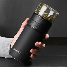 600ml Insulated Water Bottle Tea Cup Tea Infuser Travel Mug Tumbler Green Tea
