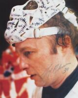GERRY CHEEVERS SIGNED BOSTON BRUINS 8X10 PHOTO 2